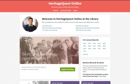 picture of heritage quest page