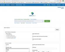 ebsco seaarch page