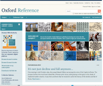 oxford reference front page